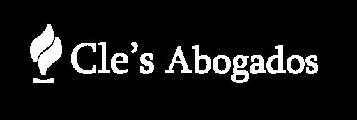 Logo Cle's Abogados blanco